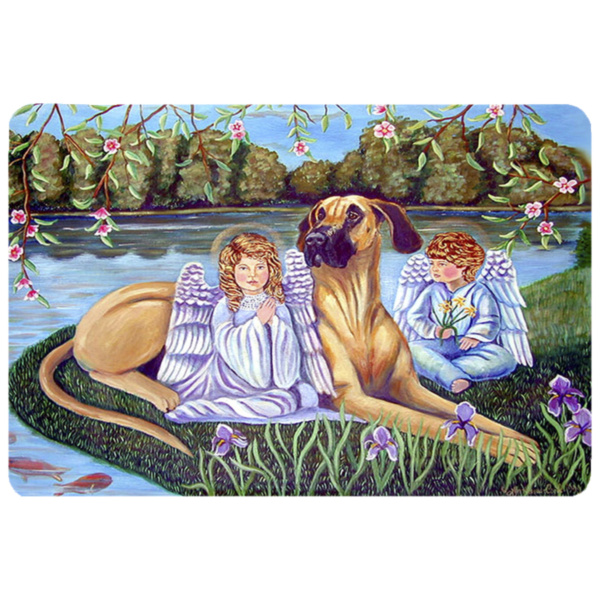 Angels with Great Dane Kitchen or Bath Mat 20x30