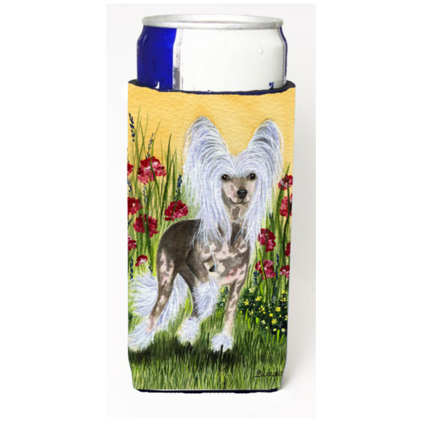 Chinese Crested Michelob Ultra Koozies for slim cans SS8185MUK