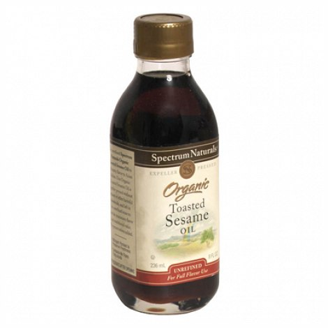 Spectrum Naturals Unrefined Toasted Sesame Oil (8 Oz)