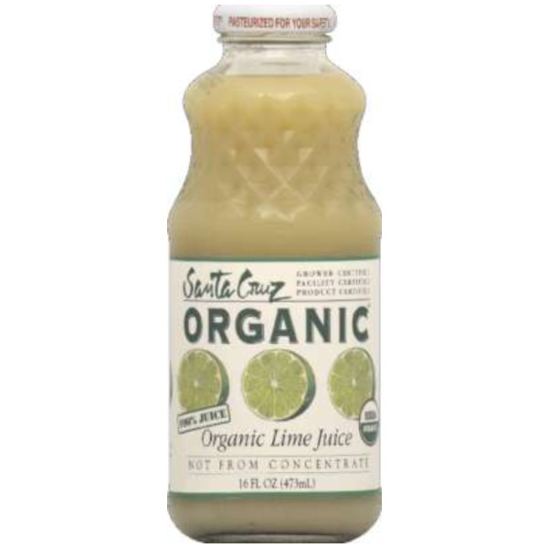 Santa Cruz Organics Lime 16 Oz (Pack of 12)