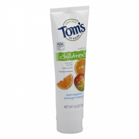 Tom'S Of Maine Children'S Natural Fluoride Toothpaste Outrageous Orange Mango - 4.2 Oz - (Pack of 6)