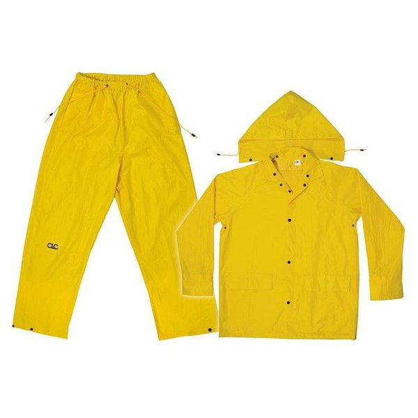 Product Image: CLC R102M Yellow Polyester 3-Piece Rain Suit, Medium