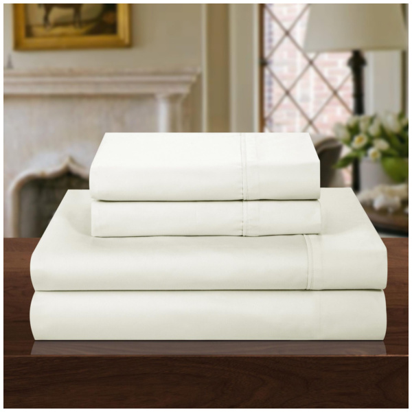 Product Image: 1000 Thread Count Cotton Rich Luxury Sheet Set Off White Size:King