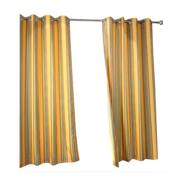 Product Image: Outdoor Decor In & Outdoor Gazebo Striped Grommet Top Window Panel Rainbow Size:50 X 84