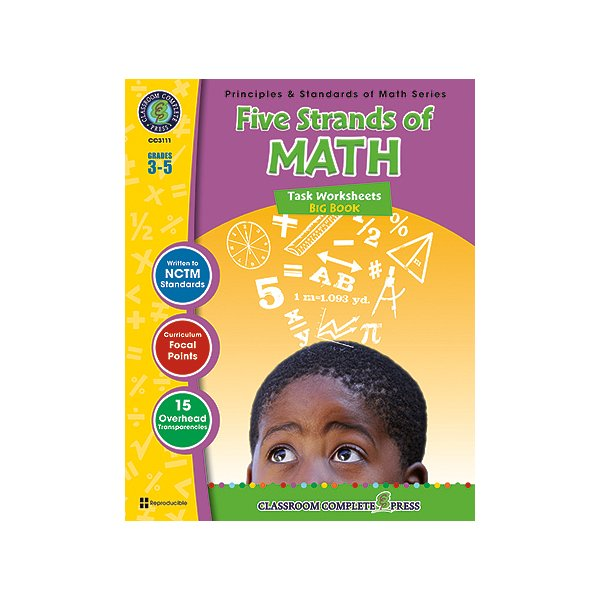 Product Image: Classroom Complete Press CCP3111 Five Strands Of Math Big Book Gr 3-5 Principles & Standards Of Math