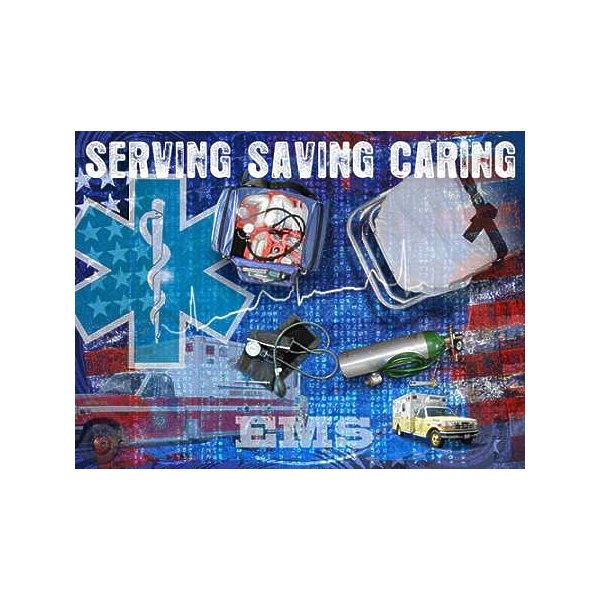 Product Image: Tangletown Fine Art Serving Saving Caring by Jim Baldwin Poster Frame - 17 x 23 x 1.5 in.
