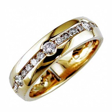 Jewelry Castle 3-2204-MR-14KYG-10 and a half Mens Diamond 14K Gold Ring Size 10.5