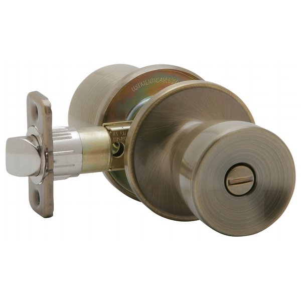 Schlage Antique Brass Byron Bed & Bath Privacy Knobs J40VBYR609