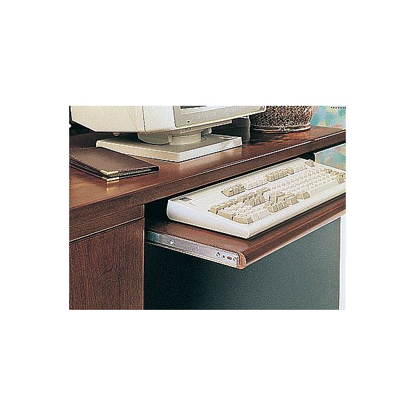 Knape & Vogt Kv8150 P12 12 In. Variable Height Keyboard Slide 75Lb. - Anochrome