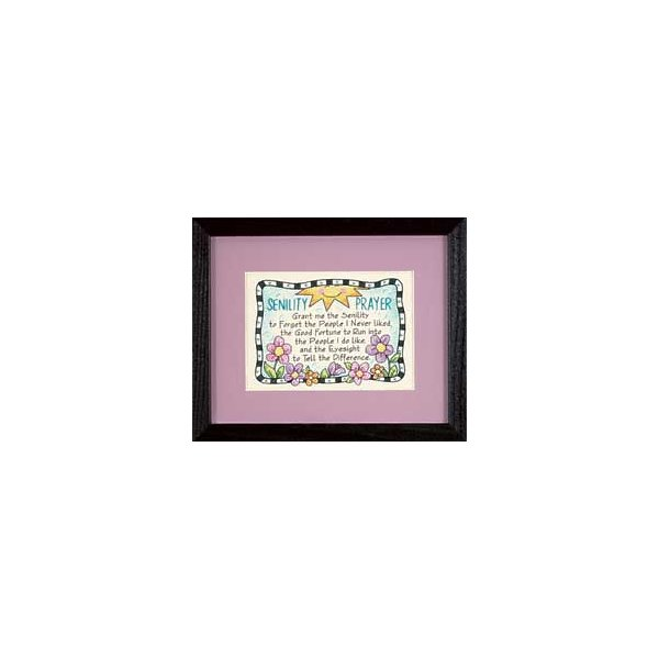 Dimensions 261959 Senility Prayer Mini Stamped Cross Stitch Kit-7 in. x 5 in.