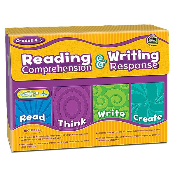 Product Image: Teacher Created Resources 9016 Reading Comprehension & Writing Response Grade 4-5