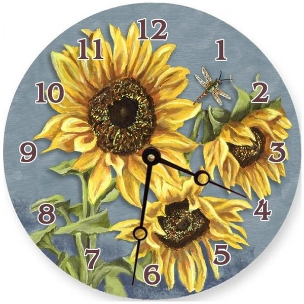Lexington Studios 23097R Tuscan Sunflowers Round Clock