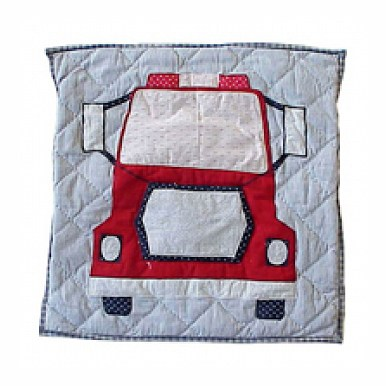Patch Magic TPFRTR-FT Fire Truck, Firetruck, Toss Pillow 16 x 16 in.