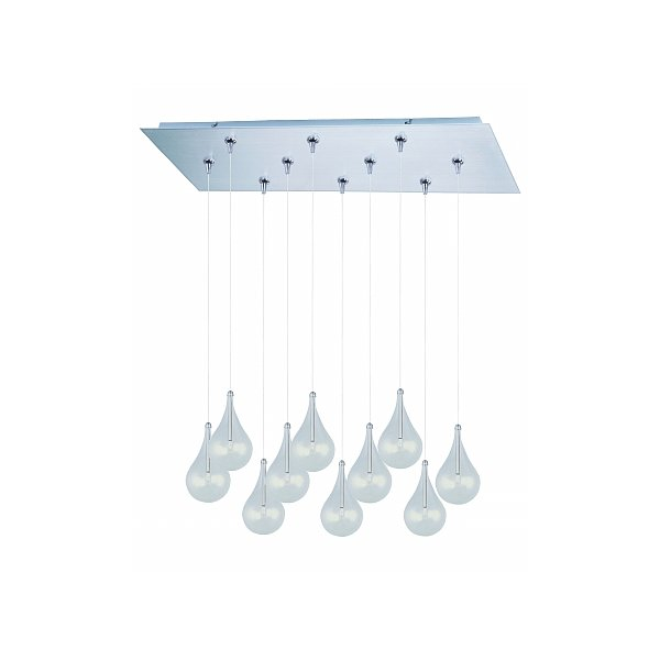 ET2 - Maxim Lighting E93910-18SN Larmes 10-Light RapidJack Pendant and Canopy - Satin Nickel