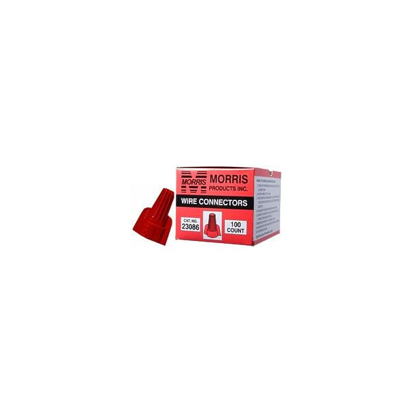 Morris Products 23086 Twisted Wing Connectors Red Boxed 100 Pack, Pack Of 100
