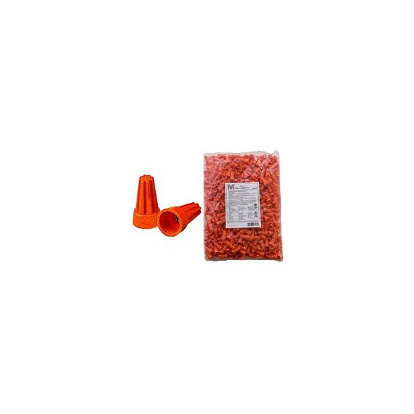 Morris Products 23173 Screw-On Wire Connectors P3 Orange Bagged 500 Bulk Pack, Pack Of 500