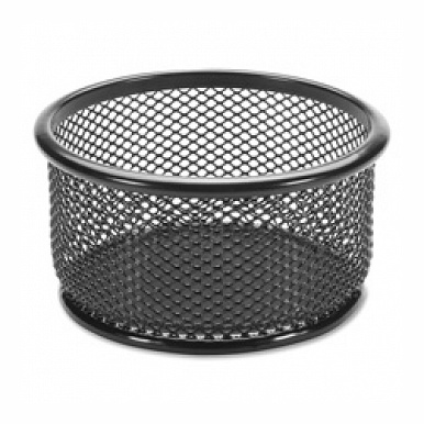 Lorell LLR84150 Paper Clip Holder, 3.75 in. x 3.88 in, Black Mesh