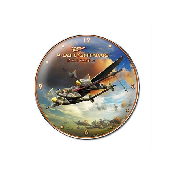Past Time Signs LG192 Lightning Aviation Clock
