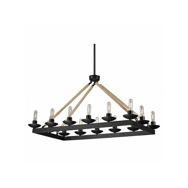 ELK Lighting 15904-14 Pearce 14 Light Chandelier in Matte Black