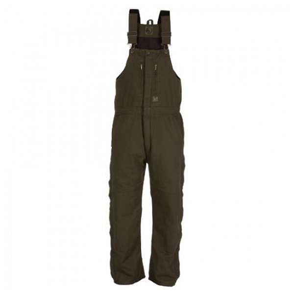 Product Image: Berne Apparel B377ODS520 2X-Large Short Original Washed Insulated Bib Overall - Olive Duck