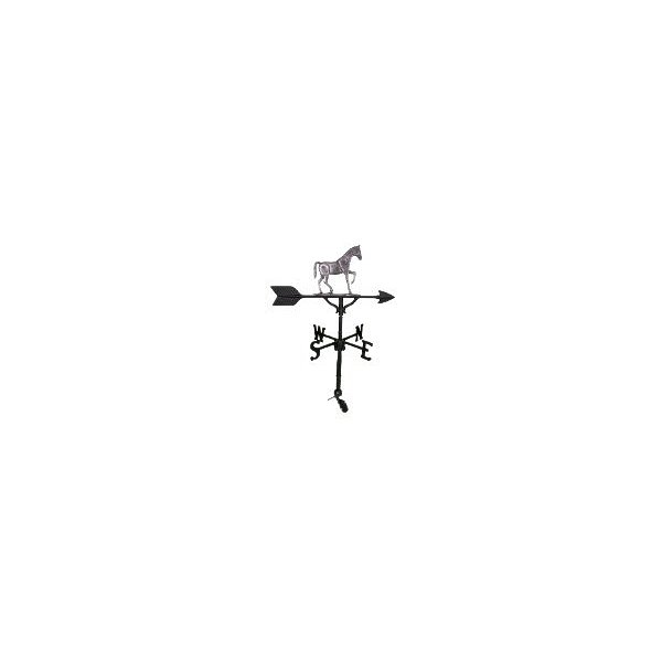 Montague Metal Products WV-256-SI 200 Series 32 In. Swedish Iron Gaited Horse Weathervane