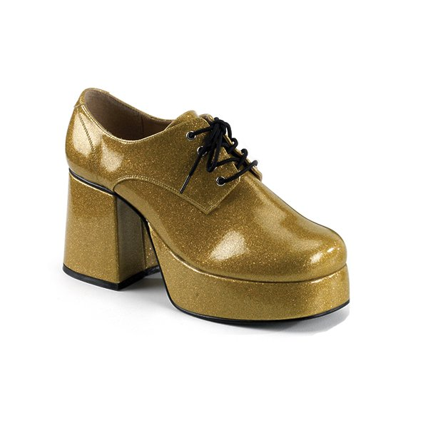 Funtasma Jazz-02G Men S Gold Glitter Disco Shoes Size L