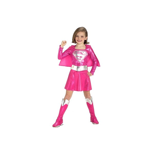 Rubies Costumes 155988 Pink Supergirl Toddler-Child Costume Size: Toddler 2-4