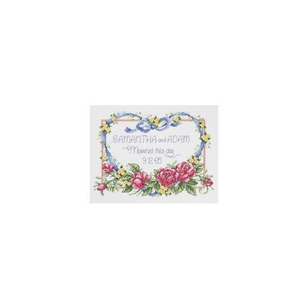 Janlynn 280876 Married This Day Counted Cross Stitch Kit-10 in. x 8 in. 14 Count