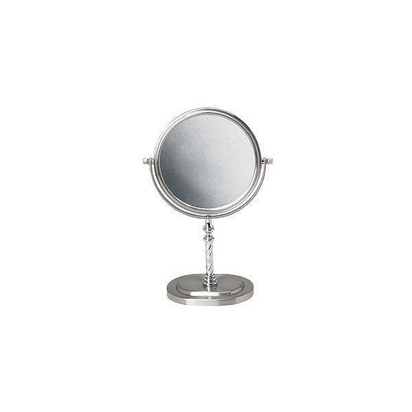 Jerdon Style JP526N 6 in, 5X-1X Table Top Mirror, Nickel, Height 11 in.