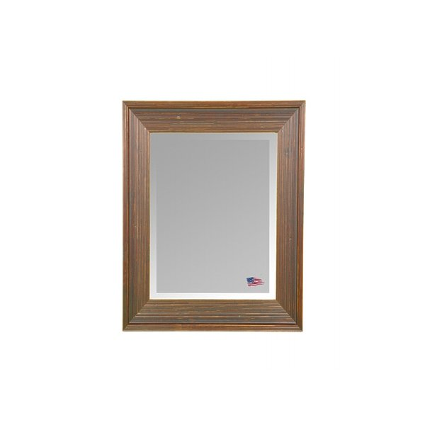 Rayne Mirrors R017LV Barnwood Brown 41.75 x 35.75 Wall Mirror