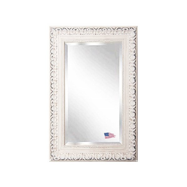 Rayne Mirrors R039SV French Victorian White 23.5 x 35.5 Wall Mirror