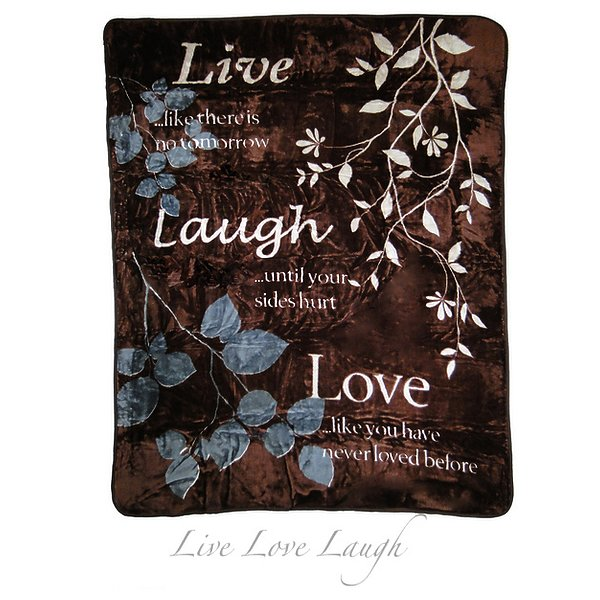 Product Image: Shavel HP60X80INSPIRE14 Hi Pile Oversize Luxury Throw - Love Faith Inspire