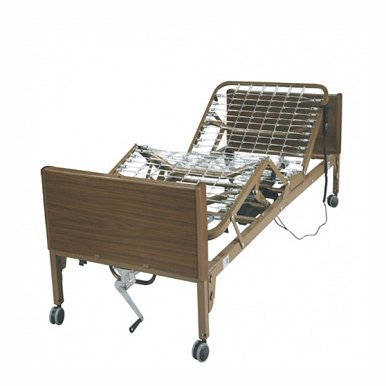 Drive 15033 Full Electric Hospital Bed : Drive Ultra Light Full Electric Bed with Half Rails - No mattress
