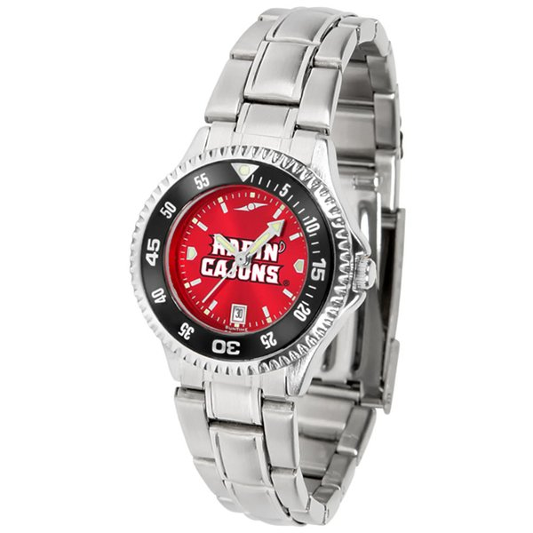 "Product Image: Louisiana Lafayette Ragin Cajuns NCAA AnoChrome ""Competitor"" Women's Watch (Color Bezel)"