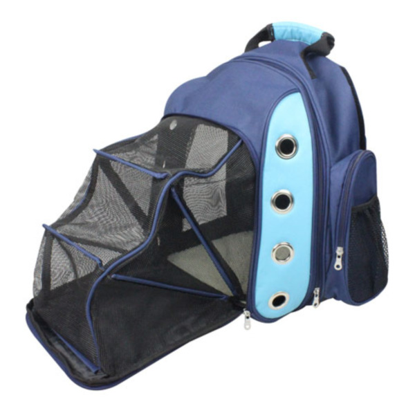 Product Image: Iconic Pet - FurryGo Luxury Backpack Pet Carrier with Lounge - Navy Blue