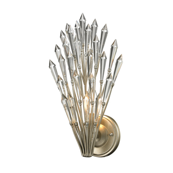 Product Image: ELK Lighting 31430-1 Viva Natura 1 Light Wall Sconce In Aged Silver