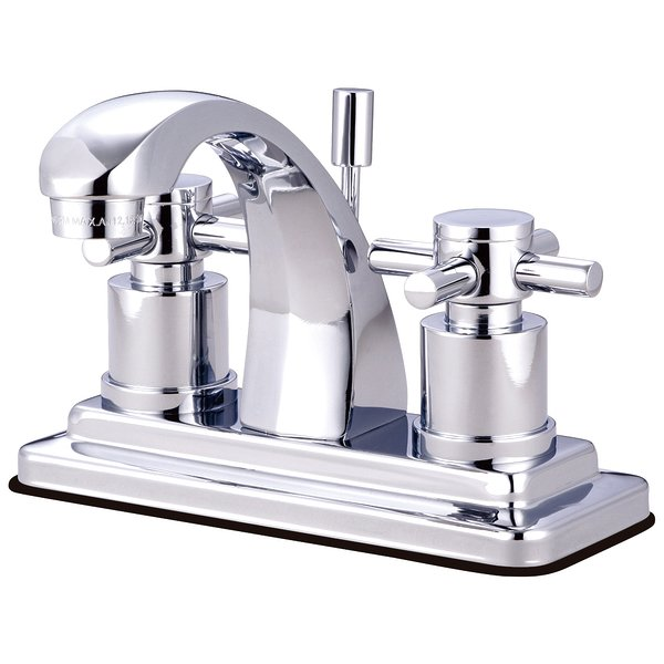 "Product Image: Kingston Brass Concord Two Handle 4"""" Centerset Lavatory Faucet with Brass Pop-up - Polished Chrome"