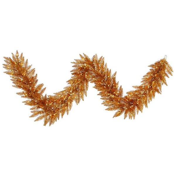 "Product Image: Vickerman 28424 - 9' x 14"" Copper 100 Clear Lights Christmas Garland (K127215)"