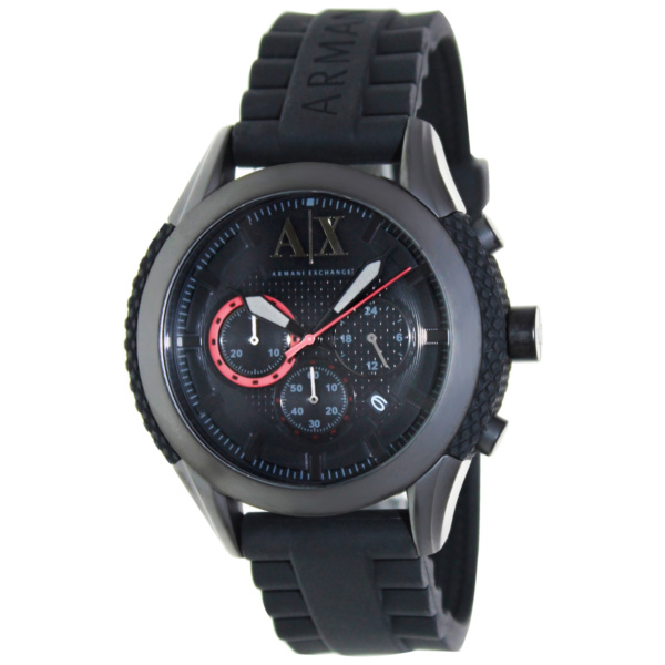 Product Image: Armani Exchange Men's AX1212 Black Silicone Quartz Watch