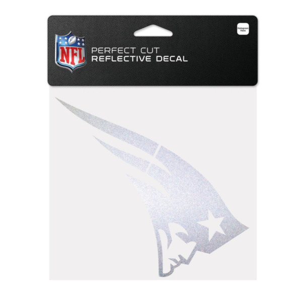 Product Image: New England Patriots Official NFL 6 inch x 6 inch Reflective Die Cut Car Decal by Wincraft 120816