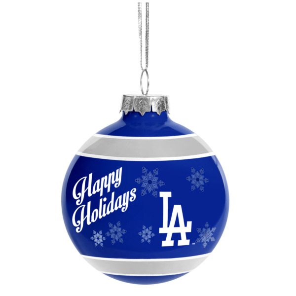 Product Image: Los Angeles Dodgers Official MLB Holiday Christmas Ornament Glass Ball by Forever Collectibles 466239