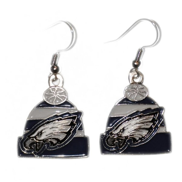 Product Image: Philadelphia Eagles Beanie Hat Dangle Earrings