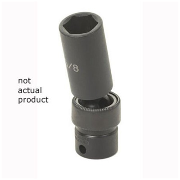 Product Image: Grey Pneumatic 1013UMD 3/8in Drive x 13mm Deep Universal Socket