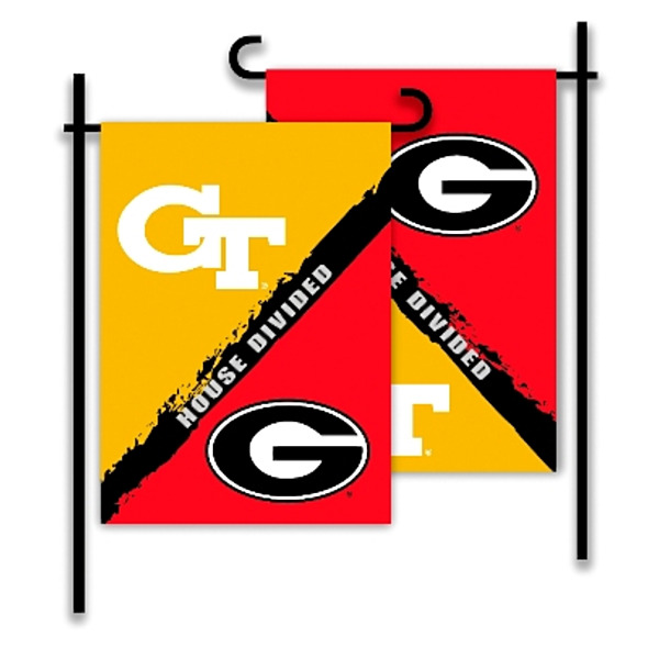 Product Image: 2-Sided Garden Flag - Rivalry House Divided Georgia - Ga. Tech - 83749
