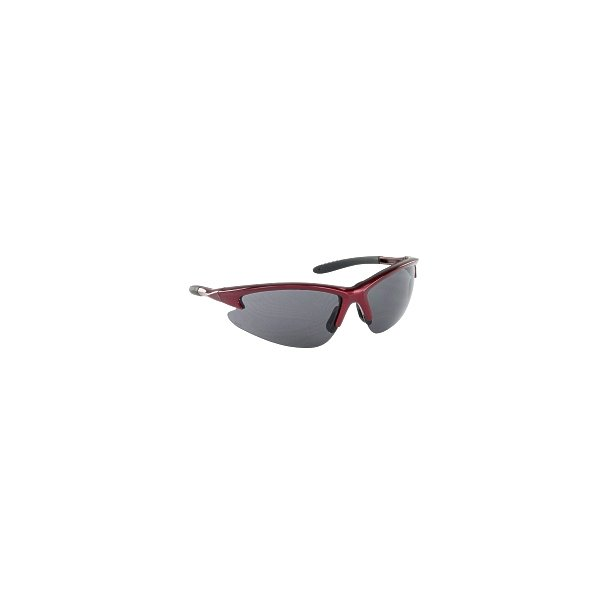 Product Image: DB2 Safety Glasses with Shaded Lens and Red Frames in Poly Bag