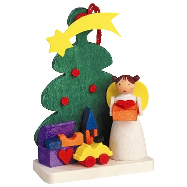 "Product Image: Alexander Taron Graupner Ornament Angel With Toys/Tree 2.5""H X 1.75""W X 1""D"