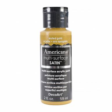 Americana Multi-Surface Satin Acrylic Paint 2oz-Muted Gold