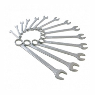 14 Piece SAE Raised Panel Combination Wrench Set