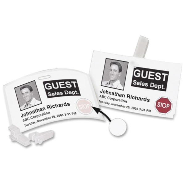 Label, Dymo Name Badge 12-Hour Time
