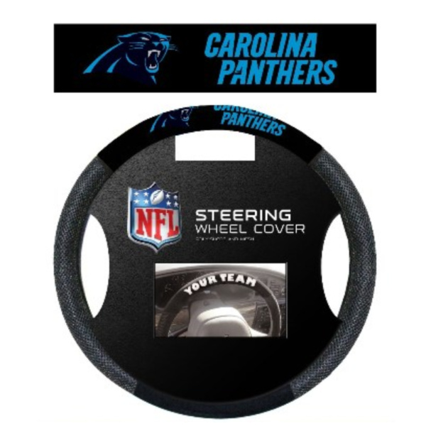 Poly-Suede Steering Wheel Cover Carolina Panthers - 98528
